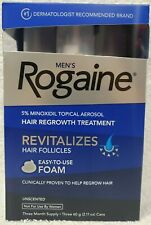 Rogaine Men Unscented HAIR REGROWTH TREATMENT Foam 3 Month Supply New EXP 1/2021
