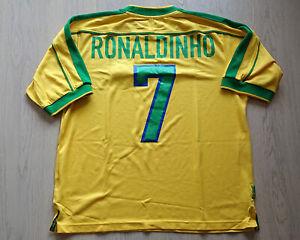 Brazil 1999 FIFA Confederations Cup Home shirt S/S Ronaldinho #7 Mega Rare