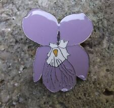 Beautiful Hairy Violet Purple Wild Flower Pink Bloom Brooch Pin Badge