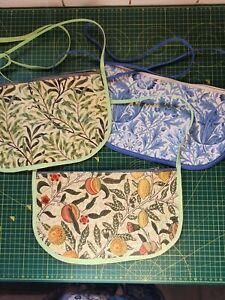 William Morris handmade PVC coated zipped peg bag with across body length strap