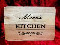 Personalised Wooden Chopping Board, Any Message