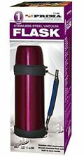 1L Stainless Steel Thermos Style Insulated Vacuum Flask vacuum + handle pink