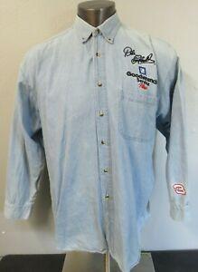Mens Competitors View Denim Long Sleeve Button Front Shirt  XL Dale Earnhardt