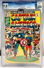 1971 Marvel Captain America Annual #1 Comic Book - CGC 7.0 OW/W Pages