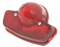 Rear Taillight Brake Lamp Red Lens Lucas Type Fits For Triumph BSA Norton S2u