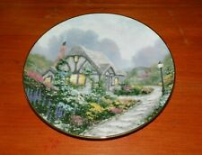 Thomas Kinkade Collector Plate Garden Cottages of England Chandler's Cottage