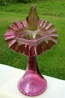 "Fenton Mulberry Glass Jack in the Pulpit Tulip Vase - 10.5""H Mint"