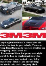 """12"""" x 60 """" Black Matte  3M  Graphic Vinyl Film Sheet Car  Wrap 3M Free Shipp usa"""