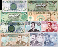 Iraq Set of 10 Notes - Extremely Tough to Find Quantities of Some of These Notes