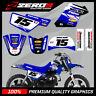 YAMAHA PW50 MOTOCROSS MX GRAPHICS DECAL KIT MUSCLE MILK BLUE / BLUE