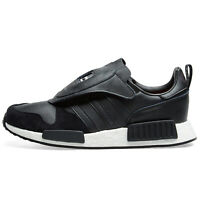 $200 ADIDAS MICROPACER X R1 NMD Mens Athletic Casual Shoes Black Leather Size 10
