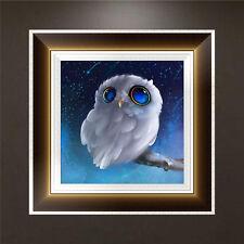 5D Diamond Embroidery Owl Painting Cross Stitch DIY Craft Home Office Decor