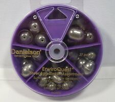 Danielson Steel Oval Egg Sinkers Assortment Bass Trout Lead Fishing Weights