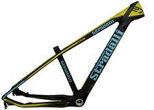 "STRADALLI CARBON FIBER MOUNTAIN BIKE BICYCLE FRAME 27"" 650B MTB BLUE SMALL 15"""