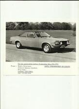 OPEL COMMODORE GS COUPE PRESS PHOTO 'BROCHURE CONNECTED'  MAY 1972