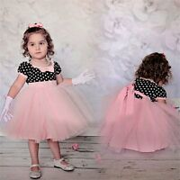 Flower Girls Kid Baby Princess Party Pageant Wedding Birthday Tulle Tutu Dresses