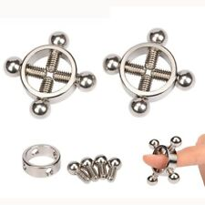 Stainless Steel Breast Nipple Clamps Clips Press BDSM Bondage Sex Toys