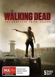 The Walking Dead : Season 3 (DVD, 5-Disc Set) Region 4 - NEW+SEALED