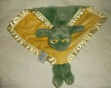 My Banky Paddy Frog Green Yellow Security Blanket Plush Lovey