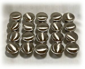 LOT of 20 SOLID & HEAVY Modern BRUSHED NICKEL SILVER Cabinet Drawer Knob Pulls