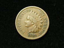 SUMMER SALE!! XF 1880 INDIAN HEAD CENT PENNY w/ DIAMONDS & FULL LIBERTY #129s