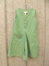 Vtg 1960s Girls Scouts Green Summer Jumper Dress Sz 8 GSA Club Uniform Costume