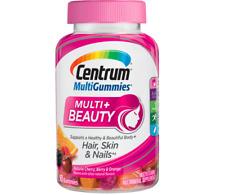 Centrum MultiGummies Multi + Beauty (90 Count) Multivitamin Supplement Exp 07/21
