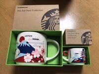 Starbucks Japan You Are Here Mt.Fuji Cherry Blossoms Sakura Mug SET