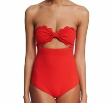 NEW Marysia Antibes one-piece scallop bikini swimsuit POPPY RED Original $348