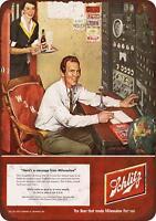 """1952 Schlitz Beer and Ham Radio Vintage Rustic Retro Metal Sign 8"""" x 12"""""""