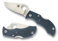 Spyderco Manbug V-Toku2 Sprint Run Knife MBBLPE, Plain Edge Blade, Blue-Gray FRN