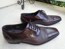 Mezlan Men's size  12 M Dress Shoes Oxford Genuine Leather Two-Tone