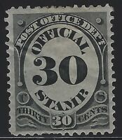 US Stamps - Scott # O55 - Post Office Official - M Glazed OG, small thin (H-145)