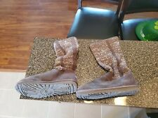 Ugg Womens Camaya Comfort Winter Boots Charcoal Gray Sparkle Knit Size 11