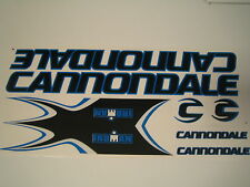 Cannondale Iroman Stickers Black, Blue & White.