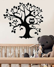 Vinyl Wall Decal Tree Owl Nursery Kids Room Child Stickers Mural (ig4335)