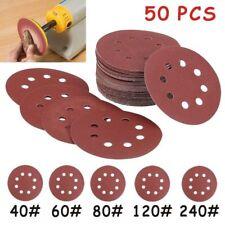 50 - 125mm - Velcro Sander Discs - 40 60 80 120 240G Orbital Sanding - EETools