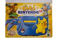 Nintendo N64 Pikachu Limited Edition JAPAN Pokemon + 10 Games + Extra controller