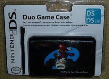 Nintendo DS LITE DSi CUSTODIA PROTETTIVA CARRELLO GIOCO Stylus Mario Kart Nuovo di Zecca Nero