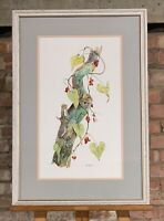 Beautiful Original Watercolour Depicting A Treewarbler By David Barber 1990