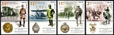 ISRAEL 2015-2018 - WWI CENTENARY - THE SET OF 4 ANNUAL  STAMPS WITH TABS - MNH