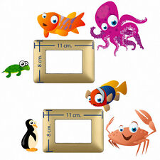 Adesivi Murali interruttori piovre e pesci wall decal light switch fish 6 pz.