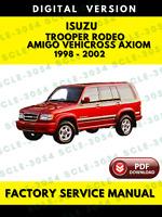 Isuzu Trooper Rodeo Amigo Vehicross Axiom 1998-2002 Service Workshop Manual