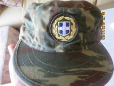 GREEK ORIGINAL ARMY SOLDIER JOKEY HAT CAP BERET-59-HELLAS-LIZARD CAMO-ASK SIZE
