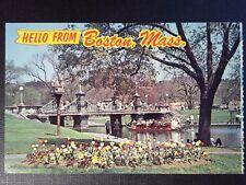 CPSM U.S.A PUBLIC GARTEN UND SWANBOAT BOSTON MASS