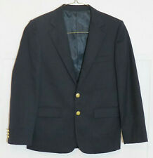 Rugged Bear Boys 16 Navy Blue Blazer Suit Jacket 100% wool Sport Coat