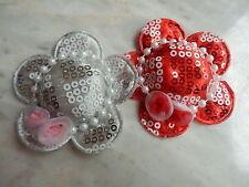 5 Miniature FABRIC HATS H2 Hair Clip Embellishment Scrapbooks Sewing Craft Dolls