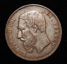 1869 Belgium 5 Francs, Silver