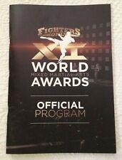 Program for World Mixed Martial Arts Awards - 2019