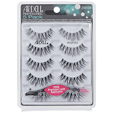 Ardell Lashes Black Wispies 5 Pack With FREE APPLICATOR worth of £4.99